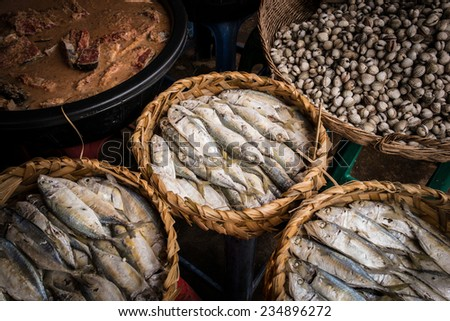 fish at Markets, Siem Reap, cambodia - stock photo