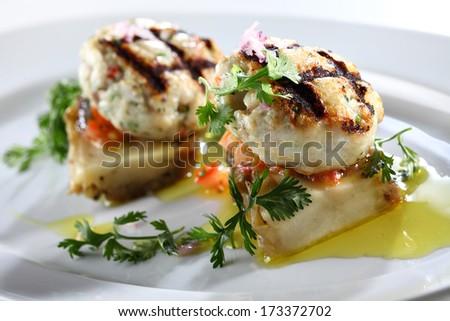 fish balls - stock photo