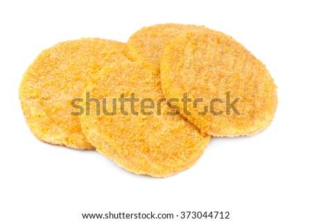 fish burgers isolated on white - stock photo
