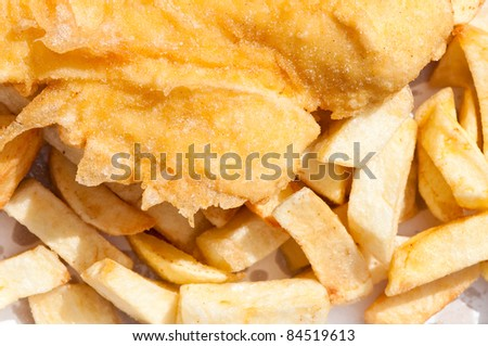 Fish & Chips, tasty background