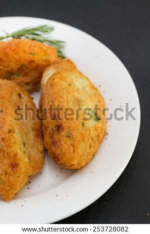fish croquettes - stock photo