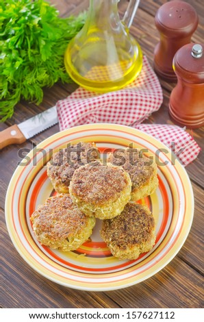 fish cutlets - stock photo