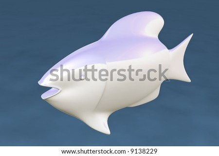 Fish 3d - stock photo