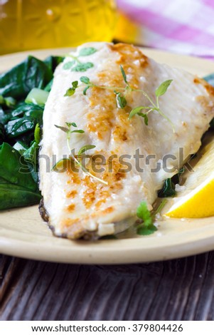 Fish dish -  fish fillet with chard