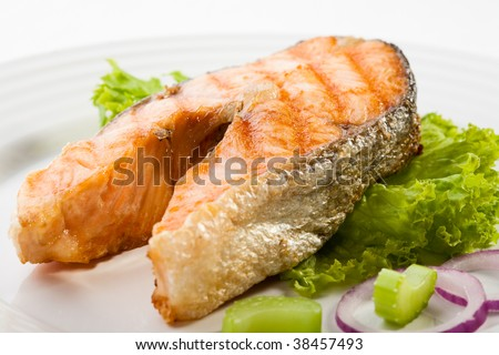 Fish dish - grilled salmon