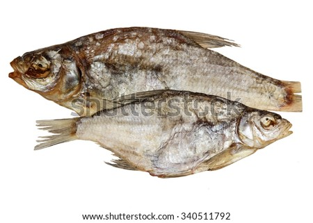 Fish dried isolated on a white background
