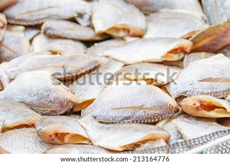 Fish, dried, salted - stock photo