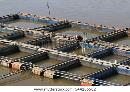 Fish farm located at Thailand