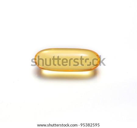 fish oil on white background - stock photo