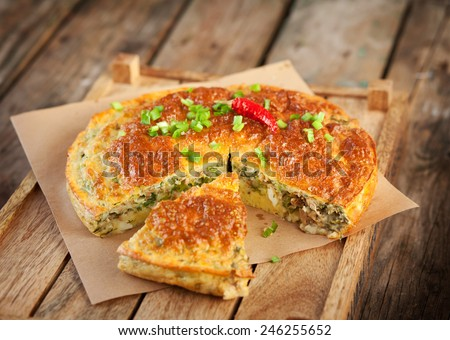 fish pie. Pie with tuna - stock photo