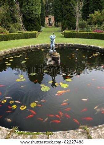 fish pool in the rose garden, Castle Howard