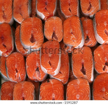 fish salmon - stock photo