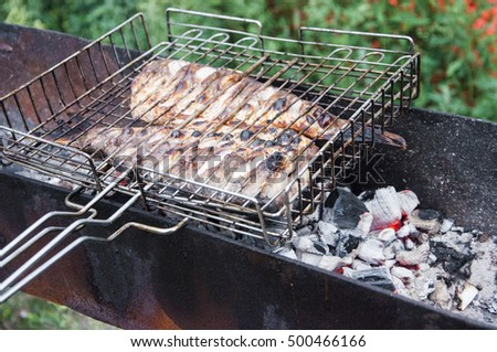 fish to the barbecue