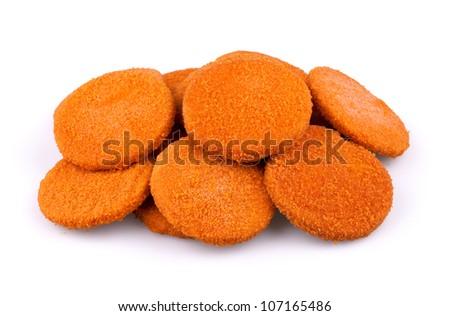 Fishcake burgers - stock photo