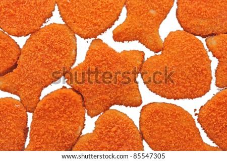 Fishcakes background - stock photo