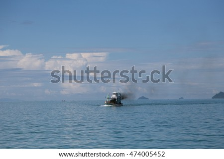 Fishering Boat in andaman sea of Thailand