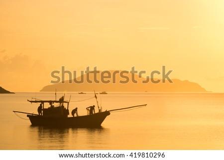Fisherman at Con Dao Island, Ba Ria Vung Tau Province, Vietnam