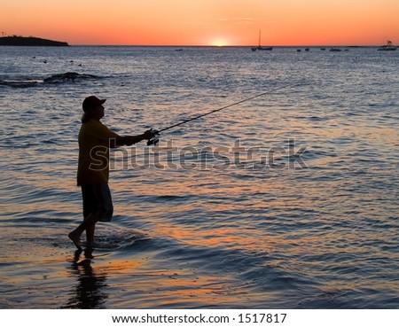 Fisherman in Costa Rica - stock photo