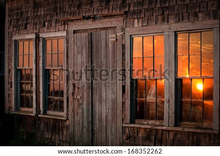 Fisherman's shack in Menemsha. - stock photo