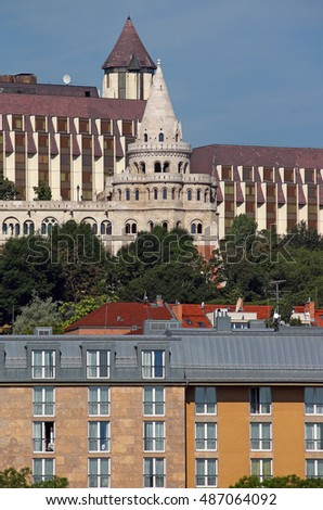 Fisherman tower and buildings Budapest Hungary