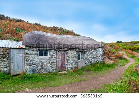 Fishermans Cottage at Prussia Cove, Cornwall.