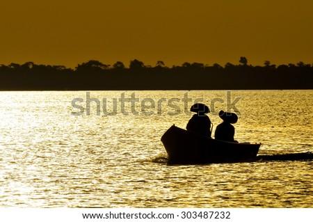 fishermen - stock photo