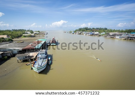 Fishery in the Gulf of Thailand  - stock photo
