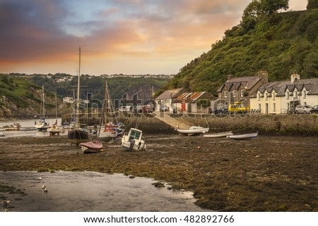 Fishguard village, Pembrokeshire, Wales, Great Britain