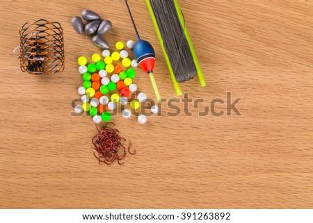 Fishing accessories - stock photo