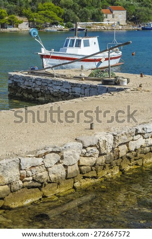 Fishing boat. Croatia. Lastovo. - stock photo