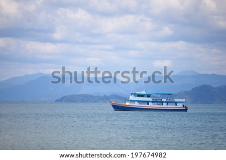 Fishing boat in a sea.