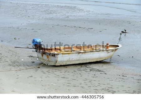 fishing boat of aground