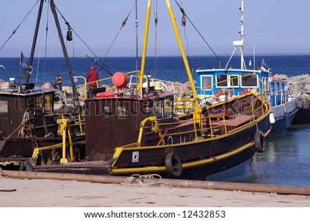 Fishing boats - stock photo