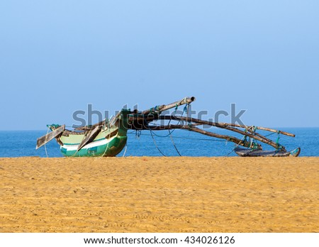 fishing boats in Sri-Lanka - stock photo