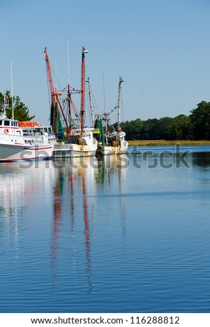 Fishing boats in the dock - stock photo