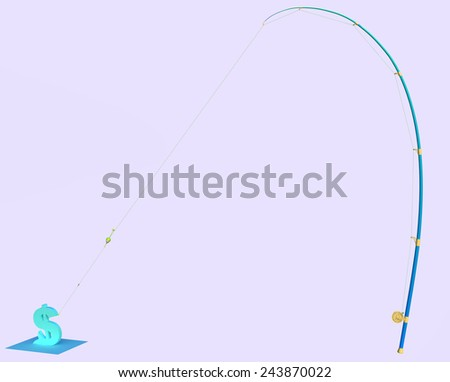 Fishing for $ - stock photo