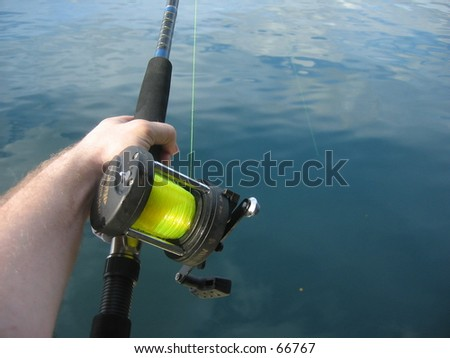 Fishing for the big game, - stock photo
