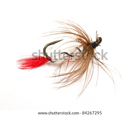 Fishing hook isolated on white background - stock photo