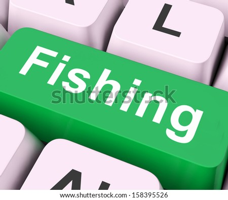 Fishing Key On Keyboard Meaning Sport Of Catching Fish