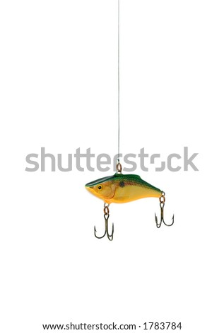 Fishing lure, conceptual for temptation. (Jiggler). - stock photo