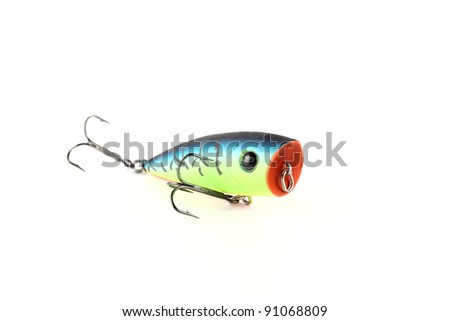 Fishing lure popper. Casting and spinning. Isolated - stock photo