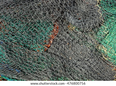 Fishing net as background