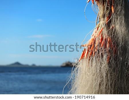 Fishing net for fishing industry - stock photo