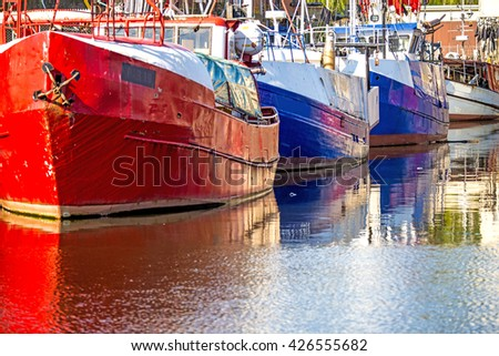 Fishing port of Ustka, Poland  - stock photo