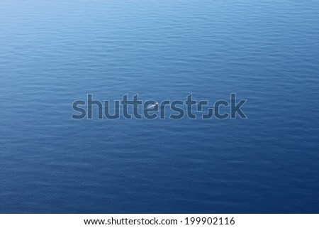 Fishing Trawler Aerial View Vast Ocean