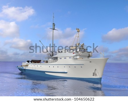 Fishing vessels - stock photo