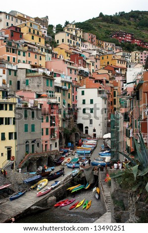 fishing village at cinque terra italy