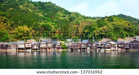 Fishing village in Kyoto. Shoot at 2012 summer time. - stock photo