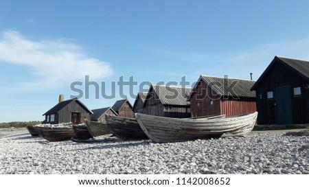 stock-photo-fishing-village-on-gotland-i