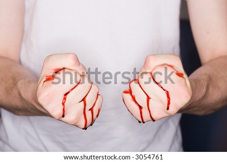 Fist Clenched - stock photo